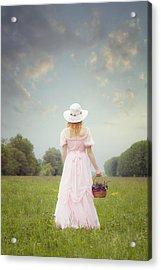 Basket With Flowers Acrylic Print by Joana Kruse