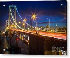 Bay Bridge Acrylic Print by Inge Johnsson