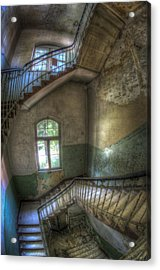 Beelitz Stairs  Acrylic Print by Nathan Wright