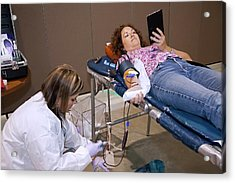 Blood Donation Clinic Acrylic Print by Jim West