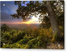 Blue Ridge Mountain Sunset Acrylic Print by Debra and Dave Vanderlaan