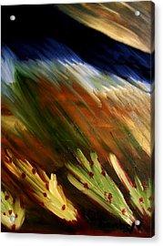 Blue Wheatie Acrylic Print by Bamhs Blair