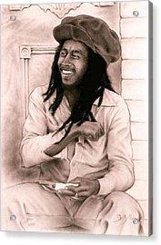 Bob Marley Acrylic Print by Guillaume Bruno