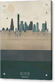 Boston City Massachusetts Acrylic Print by Bri B
