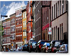 Boston Street Acrylic Print by Elena Elisseeva