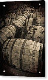 Bourbon Barrels Acrylic Print by Karen Zucal Varnas