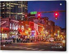 Broadway Street Nashville Acrylic Print by Brian Jannsen