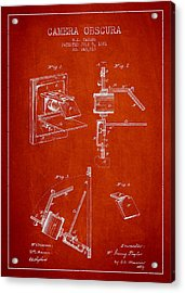 Camera Obscura Patent Drawing From 1881 Acrylic Print by Aged Pixel