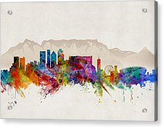 Cape Town South Africa Skyline Acrylic Print by Michael Tompsett