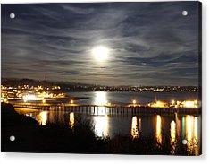 Capitola Moonscape Acrylic Print by Deana Glenz