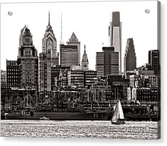 Center City Philadelphia Acrylic Print by Olivier Le Queinec