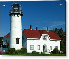 New England Acrylic Print featuring the photograph Chatham Lighthouse by Juergen Roth