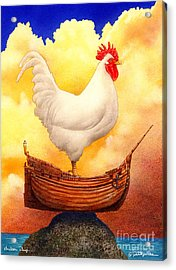 Chicken Ship... Acrylic Print by Will Bullas