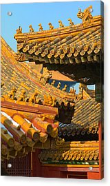 China Forbidden City Roof Decoration Acrylic Print by Sebastian Musial