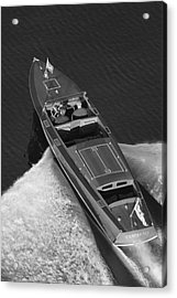 Chris Craft Aerial Acrylic Print by Steven Lapkin