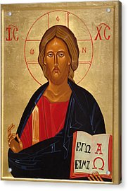 Christ Pantocrator Acrylic Print by Joseph Malham