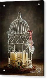 Christmas Candles Acrylic Print by Amanda And Christopher Elwell