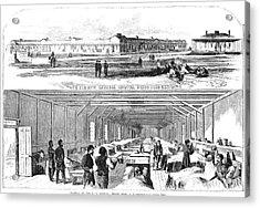Civil War Hospital Acrylic Print by Granger