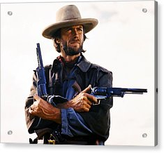 Clint Eastwood In The Outlaw Josey Wales  Acrylic Print by Silver Screen