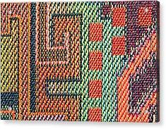 Cloth Pattern Acrylic Print by Tom Gowanlock