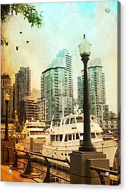 Coal Harbour Marina Vancouver British Columbia Acrylic Print by Carol Cottrell