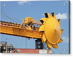 Coal Moving Machinery Acrylic Print by Ashley Cooper