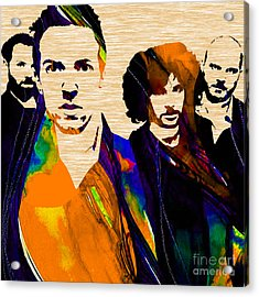 Coldplay Collection Acrylic Print by Marvin Blaine