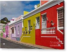 colourful buildings in Bo-Kaap Acrylic Print by Juergen Ritterbach