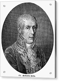Count Alessandro Volta (1745-1827) Acrylic Print by Granger