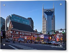 Downtown Nashville Acrylic Print by Brian Jannsen