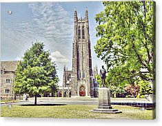 Duke Chapel In Spring Acrylic Print by Emily Kay