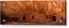 Dwelling Structures On A Cliff, House Acrylic Print by Panoramic Images