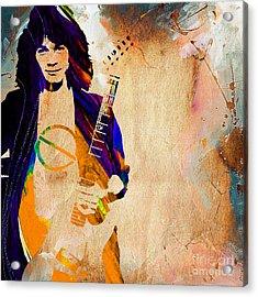 Eddie Van Halen Collection Acrylic Print by Marvin Blaine