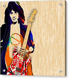 Eddie Van Halen Special Edition Acrylic Print by Marvin Blaine