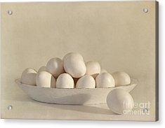 Eggs Acrylic Print by Priska Wettstein