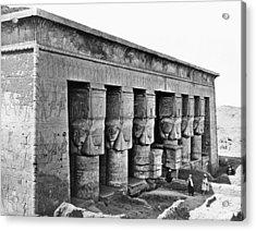 Egypt Temple Of Hathor Acrylic Print by Granger