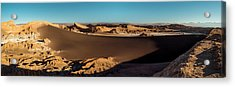 Elevated View Of Desert, Valle De La Acrylic Print by Panoramic Images