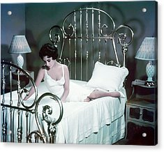Elizabeth Taylor In Cat On A Hot Tin Roof  Acrylic Print by Silver Screen