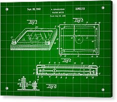 Etch A Sketch Patent 1959 - Green Acrylic Print by Stephen Younts