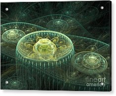 Fantasy Landscape Acrylic Print by Martin Capek