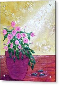 Floral Acrylic Print by Annette Forlenza