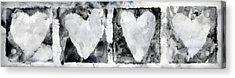 Four Hearts Acrylic Print by Carol Leigh