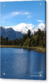 Fox Glacier Nz Acrylic Print by Fran Woods