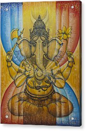 Ganesha  Acrylic Print by Vrindavan Das