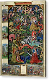 Genealogy Of Kings Of Navarre Acrylic Print by British Library