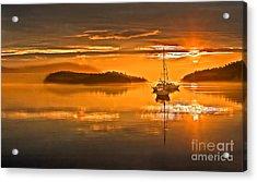 Golden  Sunrise Acrylic Print by Robert Bales