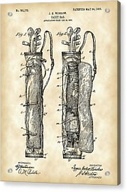 Golf Bag Patent 1905 - Vintage Acrylic Print by Stephen Younts