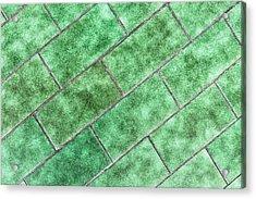 Green Tiles Acrylic Print by Tom Gowanlock