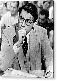 Gregory Peck In To Kill A Mockingbird  Acrylic Print by Silver Screen