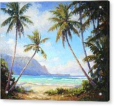 Hanalei Bay Acrylic Print by Jenifer Prince
